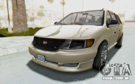 GTA 5 Vapid Minivan IVF para GTA San Andreas traseira esquerda vista