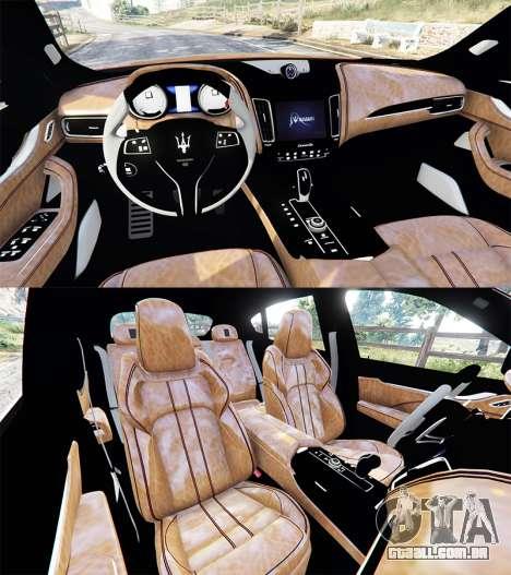GTA 5 Maserati Levante 2017 traseira direita vista lateral