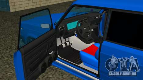 VAZ 2107 Esporte para GTA San Andreas vista superior