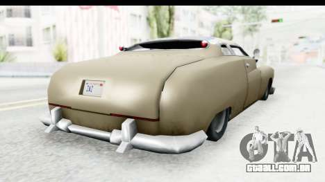 Hermes Ratrod para GTA San Andreas esquerda vista