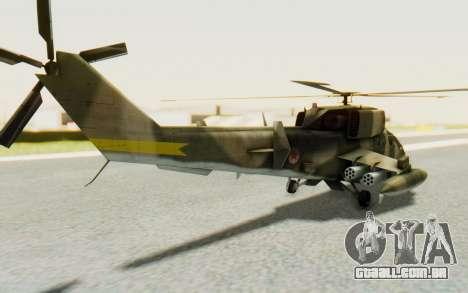 WZ-19 Attack Helicopter Asian para GTA San Andreas esquerda vista