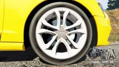 GTA 5 Audi A4 2009 traseira direita vista lateral