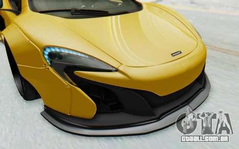 McLaren 650S Spyder ZenWorks para GTA San Andreas vista inferior