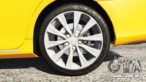 GTA 5 Toyota Camry V50 traseira direita vista lateral