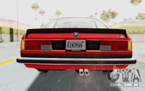 BMW M635 CSi (E24) 1984 IVF PJ2 para GTA San Andreas vista inferior