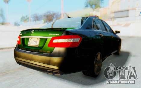 Mercedes-Benz E63 German Police Green para GTA San Andreas traseira esquerda vista