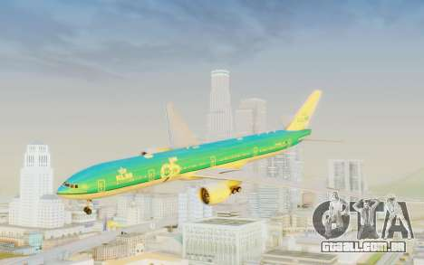 Boeing 777-300ER KLM - Royal Dutch Airlines v3 para GTA San Andreas traseira esquerda vista