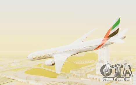 Boeing 777-300ER Emirates para GTA San Andreas esquerda vista