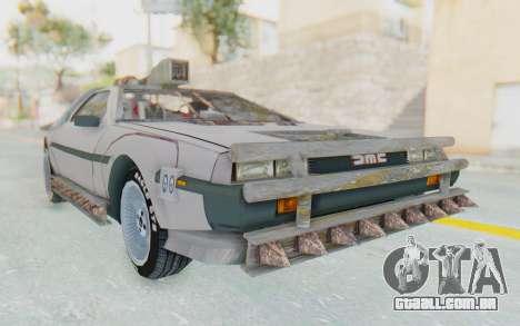 DeLorean DMC-12 2012 End Of The World para GTA San Andreas