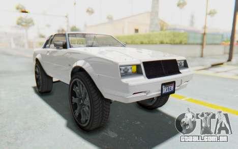 GTA 5 Willard Faction Custom Donk v2 para GTA San Andreas vista direita