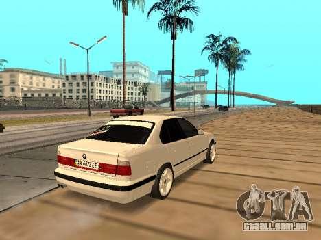 BMW E34 - EK edition para GTA San Andreas vista direita