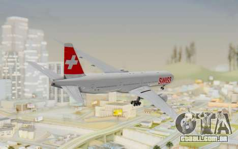 Boeing 777-300ER Swiss Global Air Lines para GTA San Andreas esquerda vista