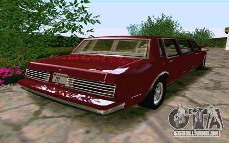Tahoma Limousine v2.0 (HD) para GTA San Andreas vista direita