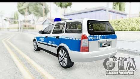 Opel Astra G Variant Polizei Hessen para GTA San Andreas esquerda vista