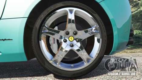 GTA 5 Ferrari California Autovista [add-on] traseira direita vista lateral