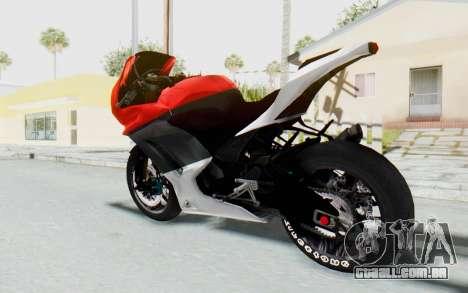 Kawasaki Ninja 250R Superbike para GTA San Andreas esquerda vista