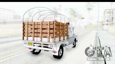 Chevrolet 3100 Diesel v2 para GTA San Andreas traseira esquerda vista