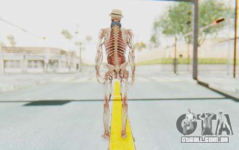 Skeleton with Hat and Glasses para GTA San Andreas terceira tela