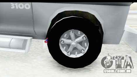Chevrolet 3100 Diesel v2 para GTA San Andreas vista traseira