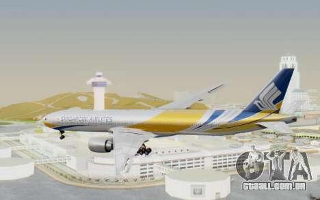 Boeing 777-300ER Singapore Airlines v2 para GTA San Andreas vista direita