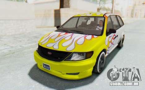 GTA 5 Vapid Minivan Custom without Hydro para o motor de GTA San Andreas