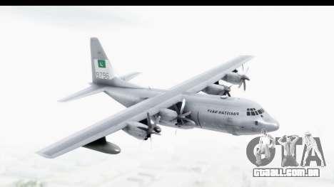 C-130 Pakistan para GTA San Andreas traseira esquerda vista