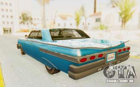 GTA 5 Declasse Voodoo PJ para GTA San Andreas esquerda vista