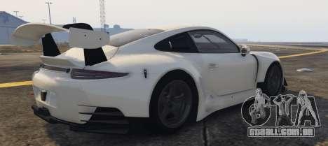 GTA 5 Porsche RUF RGT-8 GT3 vista lateral esquerda