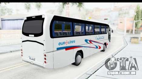 Neoplan Lasta Bus para GTA San Andreas traseira esquerda vista