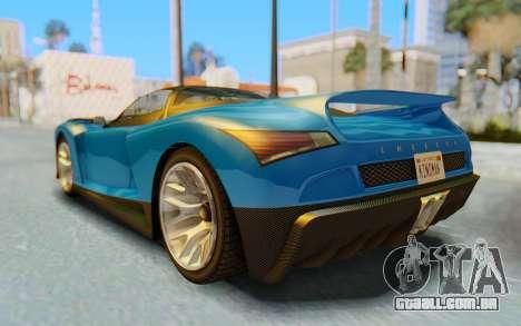 GTA 5 Grotti Cheetah SA Lights para GTA San Andreas vista inferior