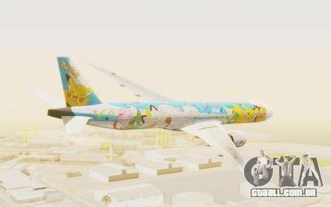 Boeing 777-300ER ANA JA754A - Peace Jet para GTA San Andreas vista direita