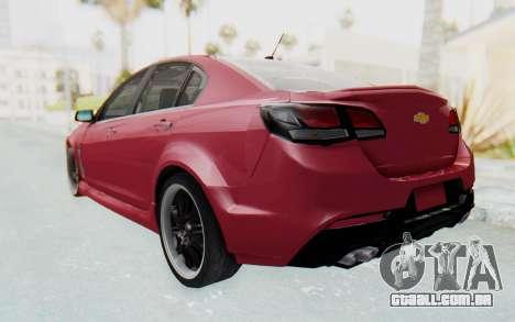 Chevrolet Super Sport 2014 para GTA San Andreas traseira esquerda vista