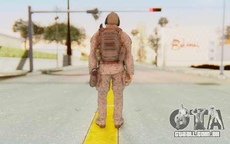 CoD MW2 Ghost Model v2 para GTA San Andreas terceira tela