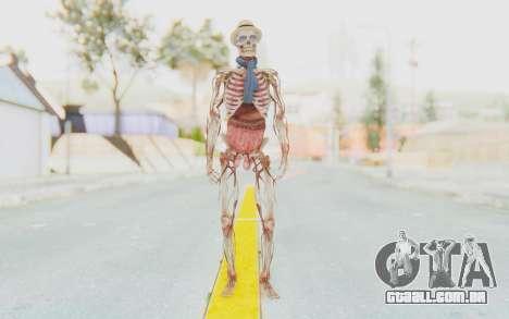 Skeleton with Hat and Glasses para GTA San Andreas segunda tela