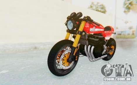 Honda CB750 Moge Cafe Racer para GTA San Andreas traseira esquerda vista