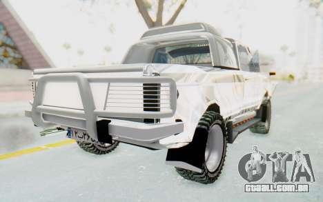 Ikco Super Peykan Pickup para GTA San Andreas traseira esquerda vista