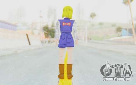 Dragon Ball Xenoverse Android 18 Showing Legs para GTA San Andreas terceira tela