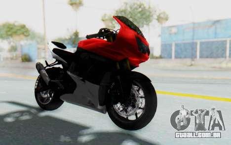 Kawasaki Ninja 250R Superbike para GTA San Andreas vista direita