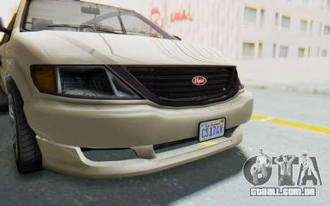 GTA 5 Vapid Minivan IVF para GTA San Andreas vista interior