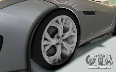 Jaguar F-Type Project 7 para GTA San Andreas vista traseira