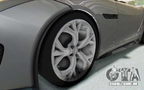 Jaguar F-Type Project 7 para GTA San Andreas vista traseira