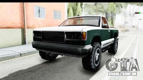 Yosemite Truck para GTA San Andreas traseira esquerda vista
