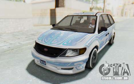 GTA 5 Vapid Minivan Custom without Hydro para vista lateral GTA San Andreas