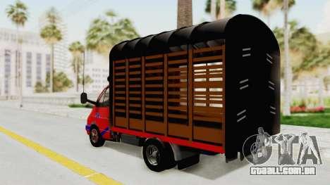 Gazela 33021 Caneta Colômbia para GTA San Andreas esquerda vista
