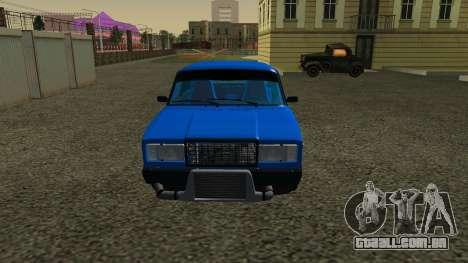 VAZ 2107 Esporte para GTA San Andreas esquerda vista
