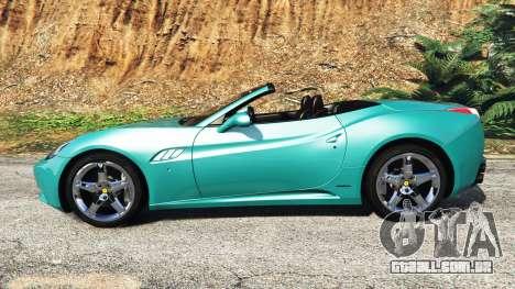 GTA 5 Ferrari California Autovista [add-on] vista lateral esquerda