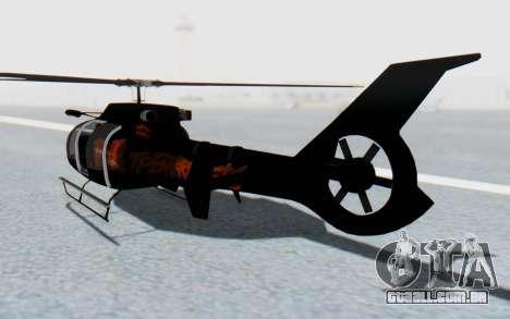 GTA 5 Maibatsu Frogger FIB IVF para GTA San Andreas esquerda vista