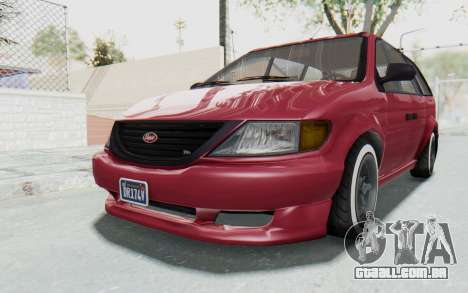 GTA 5 Vapid Minivan Custom without Hydro para GTA San Andreas vista direita