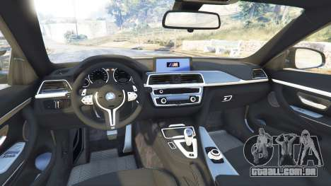 GTA 5 BMW M4 2015 v0.01 vista lateral direita