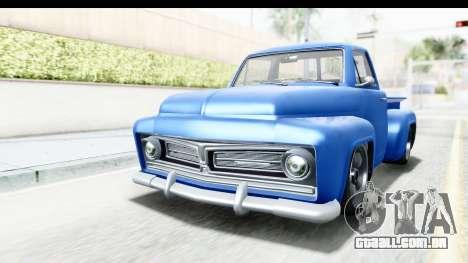 GTA 5 Vapid Slamvan without Hydro IVF para GTA San Andreas vista direita